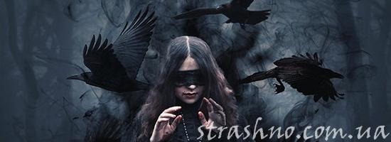 ведьма и вороны