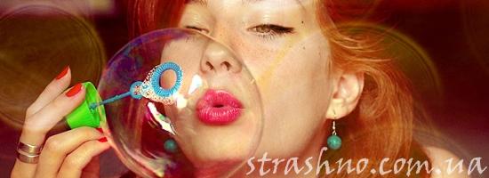 мыльные пузыри девушка