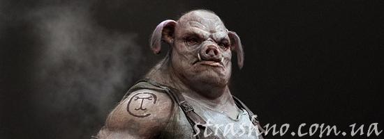 демон свинья