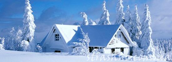 баня в снегу