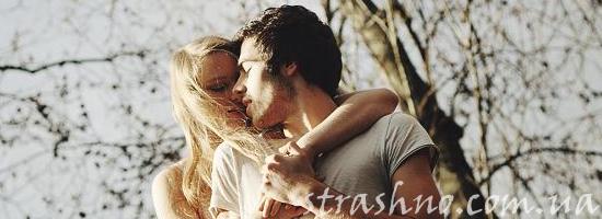влюбленная пара поцелуй весна