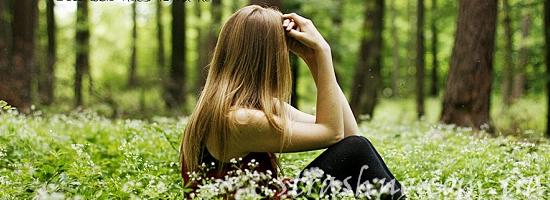 девушка лето лес