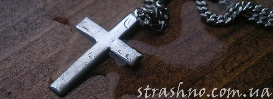 крестик на цепочке