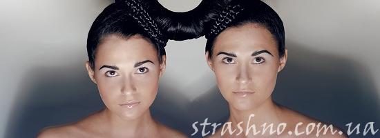 девушки близнецы