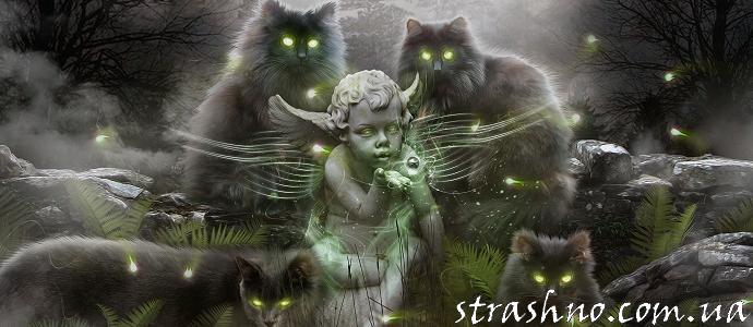 мистические кошки кладбище