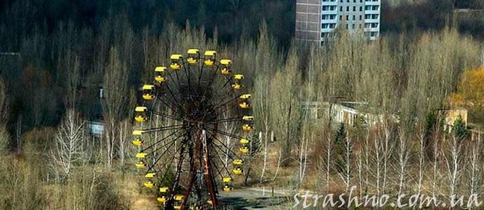 город Припять после аварии