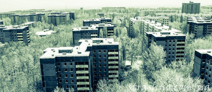 город-призрак после аварии