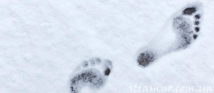мистические следы на снегу