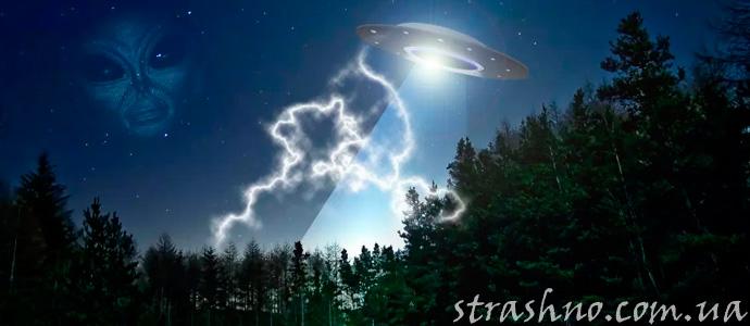 мистическое видение инопланетного корабля