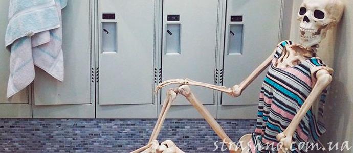смешная история о страшном скелете