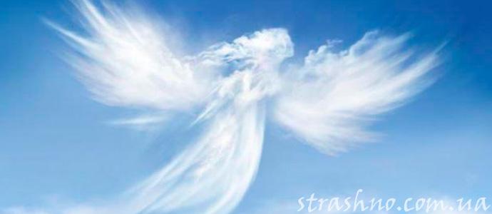 фигура ангела из облака