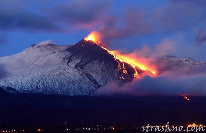 Вулкан Энта в Италии