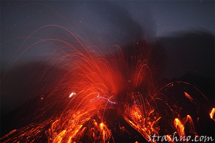Вулкан Сакурадзима - Япония