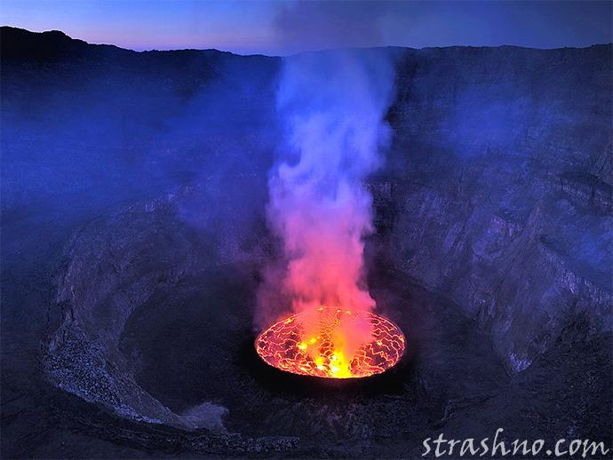 Извержение Ньирагонго в Конго