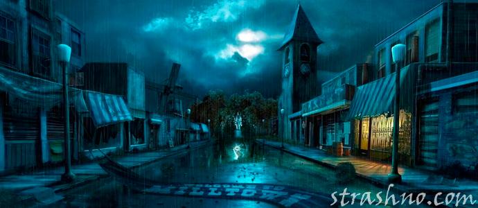 мистический ночной город
