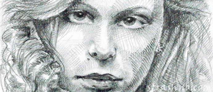 история о нарисованных портретах простым карандашом