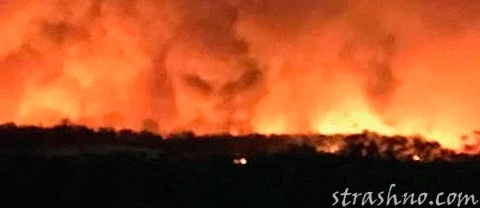 Лик Дьявола в пожаре