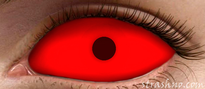 страшные красные глаза