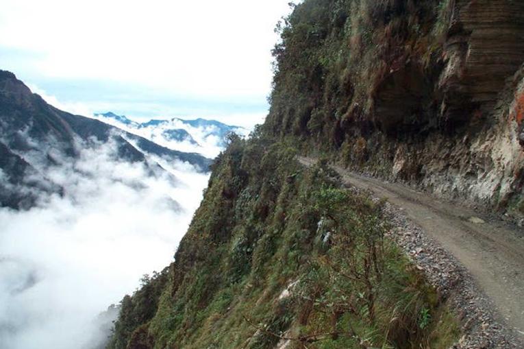 опасная дорога в горах