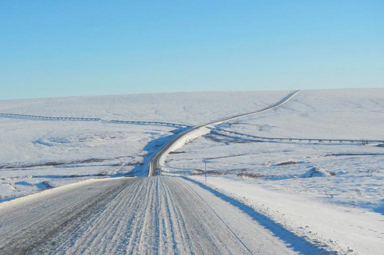 опасная дорога на Аляске