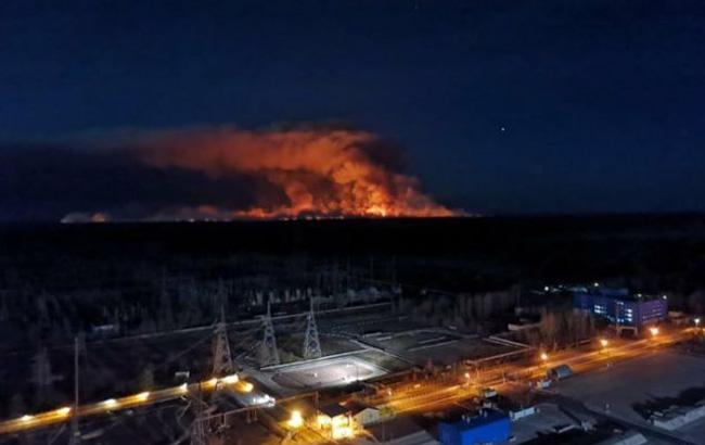 пожар в чернобыльской зоне в апреле 2020 года