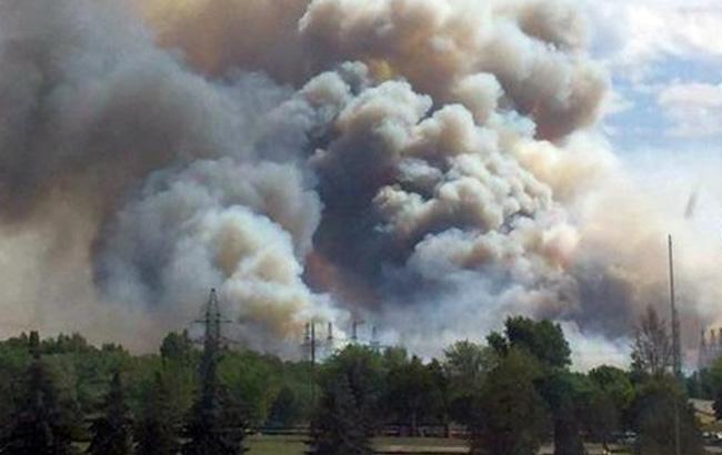 страшный дым от лесного пожара