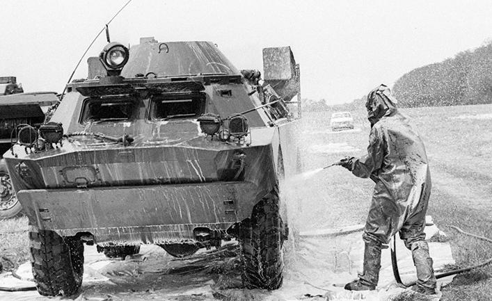 дезактивация военной техники в Чернобыле