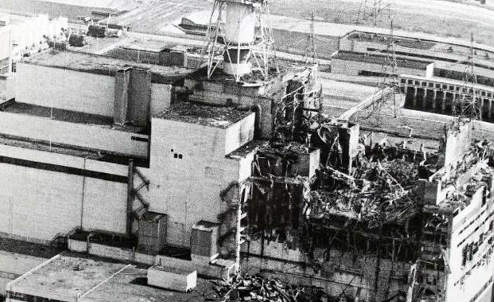 разрушенные энергоблок атомной станции