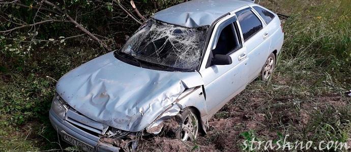 разбитая в аварии машина