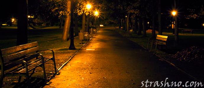 страшный ночной парк