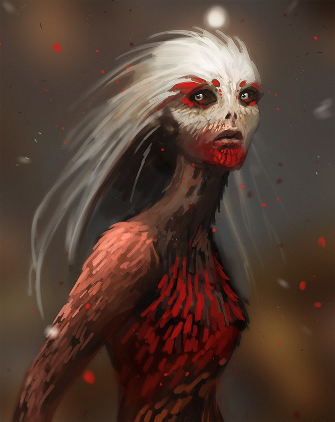 Девушка в перьях