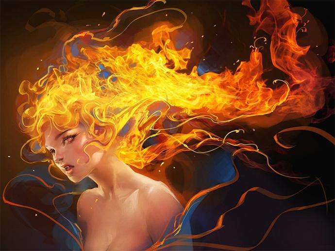 Огненноволосая девушка
