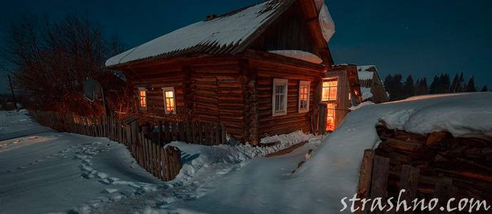 одинокий деревенский дом