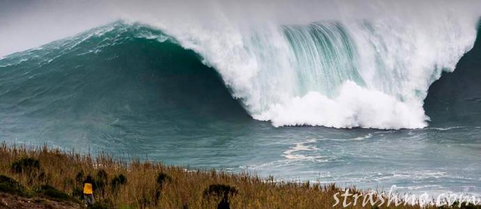страшная блуждающая волна-убийца