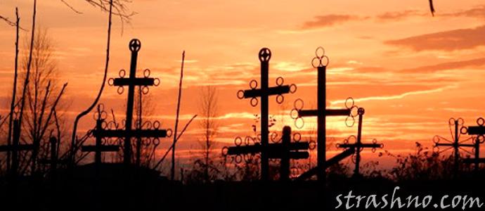 страшная ночь на кладбище