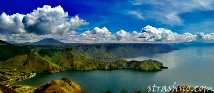 супервулкан Тоба в Индонезии