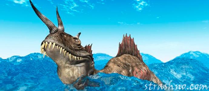 страшное морское чудовище
