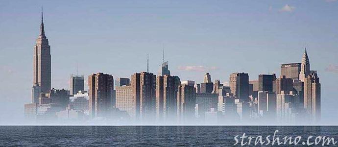 мираж города в небе
